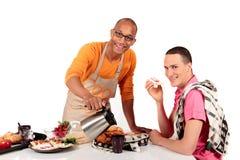pary pochodzenia etnicznego homoseksualna kuchnia mieszał Obrazy Stock
