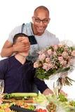 pary pochodzenia etnicznego homoseksualna kuchnia mieszająca Obraz Stock