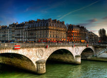 Paryż, Pont saint-michel Obraz Stock