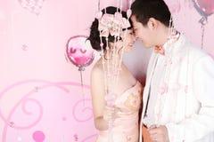 pary portreta ślub Zdjęcie Royalty Free