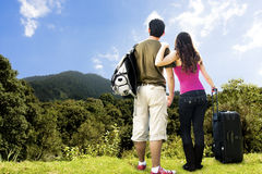 pary przyglądający góry wierzchołek Zdjęcie Stock