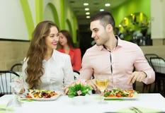 pary restauracja Zdjęcia Royalty Free