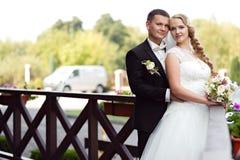 Pary sesja zdjęciowa. przy dniem ślubu Obraz Stock