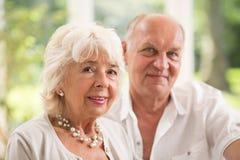 pary starszych osob miłości wektor fotografia stock