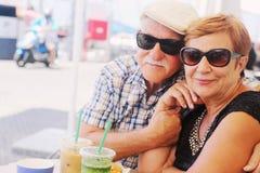 pary starzy ludzie portreta seniora dwa zdjęcie royalty free