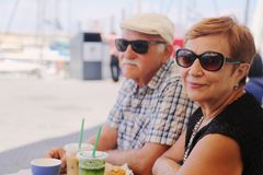 pary starzy ludzie portreta seniora dwa obraz royalty free