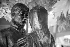 Pary statuy romantyczna sztuka Zdjęcie Royalty Free