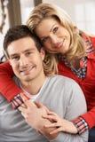 pary szczęśliwi domowi portreta potomstwa Zdjęcia Stock