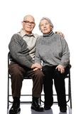 pary szczęśliwy portreta senior zdjęcia stock