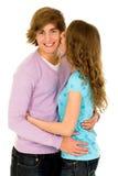 pary szczęśliwi przytulenia potomstwa Zdjęcie Royalty Free