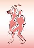 pary tancerzy mężczyzna sylwetek kobieta Zdjęcia Stock