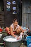Pary utrzymanie w slamsy robi pralni Zdjęcie Royalty Free
