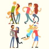 Pary w miłości, Wektorowa ilustracja Obraz Stock