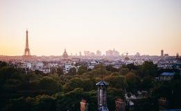 Paryż w zmierzchu Fotografia Stock