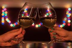 Pary Wznosić toast Zdjęcie Royalty Free