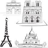 Paryjscy punkt zwrotny Zdjęcie Royalty Free