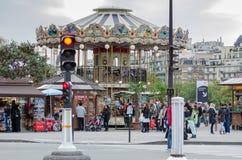 Paryjski kolorowy carousel zdjęcie stock