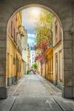 Paryjski podwórze fotografia stock