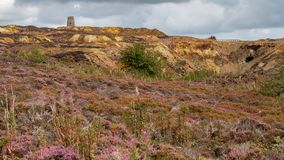 Parys Mountain, Anglesey. Former copper mine Parys Mountain, near Amlwch, Isle of Anglesey, Wales, UK Stock Photo