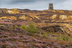 Parys Mountain, Anglesey. Former copper mine Parys Mountain, near Amlwch, Isle of Anglesey, Wales, UK Royalty Free Stock Image