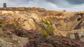 Parys Mountain, Anglesey. Former copper mine Parys Mountain, near Amlwch, Isle of Anglesey, Wales, UK Royalty Free Stock Photos