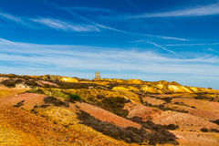 Parys Mountain with ruined windmill Stock Images