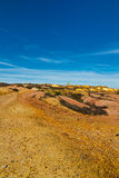 Parys Mountain with ruined windmill Royalty Free Stock Images