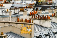 Paryscy dachy Obraz Stock
