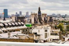 Paryscy dachy Obrazy Stock