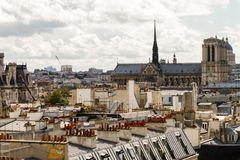 Paryscy dachy Fotografia Royalty Free