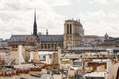 Paryscy dachy Zdjęcia Royalty Free