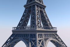 Paryscy Najlepszy miejsca przeznaczenia w Europa wieża eiffla 10K 3D rendering Zdjęcia Stock