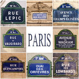 Paryscy ulica znaki Obraz Royalty Free