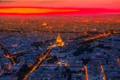 Paryska Invalids pałac antena zdjęcia stock