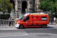 Paryska jednostka straży pożarnej Zdjęcia Stock