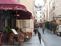 Paryska kawiarnia fotografia royalty free