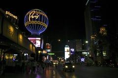 Paryska Las Vegas Nevada ulic Nighttime scena fotografia royalty free