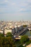 Paryska linia horyzontu. zdjęcie royalty free