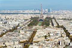 Paryska linia horyzontu od notre dame de paris Zdjęcie Royalty Free
