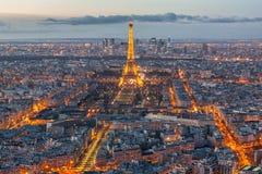 Paryska linia horyzontu od notre dame de paris Obrazy Royalty Free