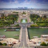 Paryska linia horyzontu od notre dame de paris Obraz Stock