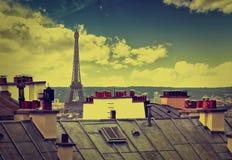 Paryska linii horyzontu antena od Montmartre Zdjęcie Stock