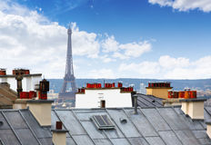 Paryska linii horyzontu antena od Montmartre Obrazy Stock
