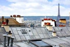 Paryska linii horyzontu antena od Montmartre Fotografia Stock