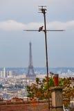 Paryska linii horyzontu antena od Montmartre Zdjęcia Stock