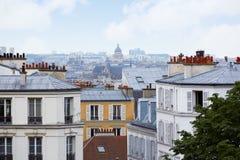 Paryska linii horyzontu antena od Montmartre Obraz Royalty Free
