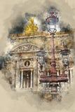 Paryska opera - Krajowa muzyczna akademia Zdjęcia Royalty Free