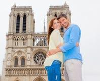 Paryska para Obrazy Royalty Free