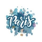 Paryska r?ka rysuj?cy wektorowy literowanie zdjęcia royalty free