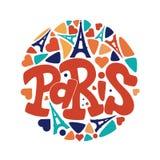 Paryska r?ka rysuj?cy wektorowy literowanie fotografia royalty free